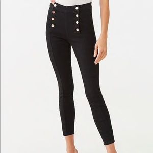 Mid-rise black jeans from Forever 21